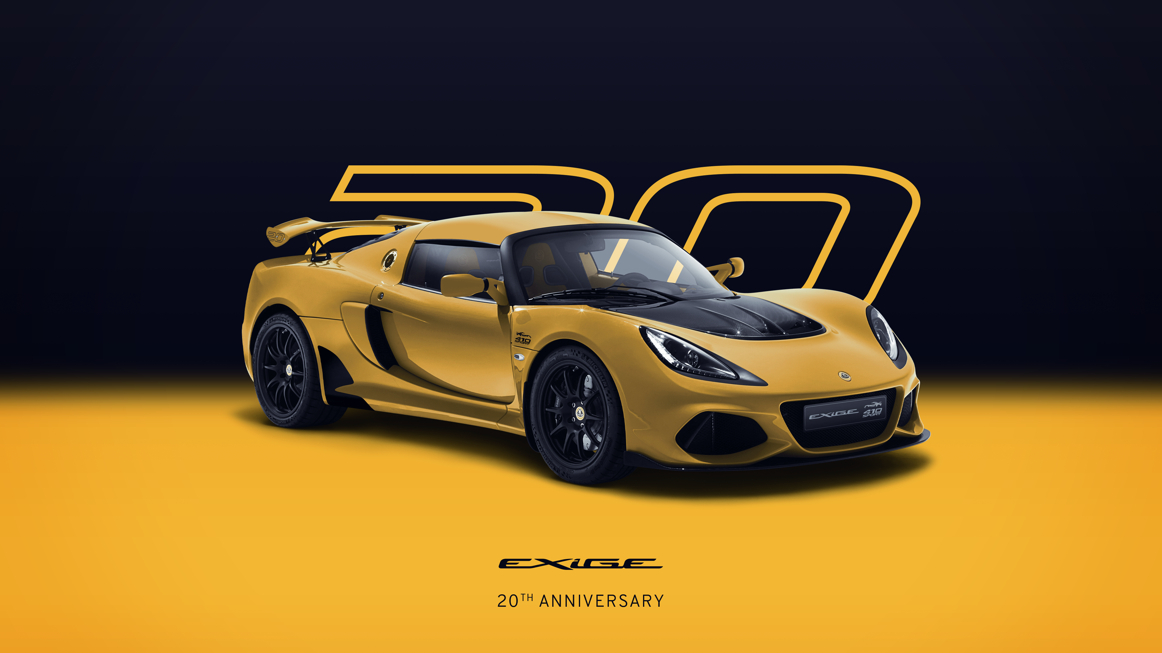 Exige 20th Anniversary_Yellow_Hero_Front