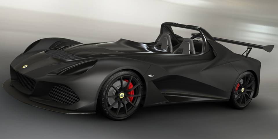 LOTUS 3-ELEVEN: MATT BLACK + STRIP METALLIC BLACK