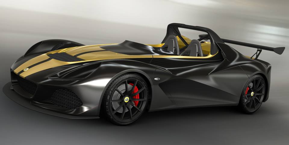 LOTUS 3-ELEVEN: METALLIC BLACK + STRIP METALLIC GOLD