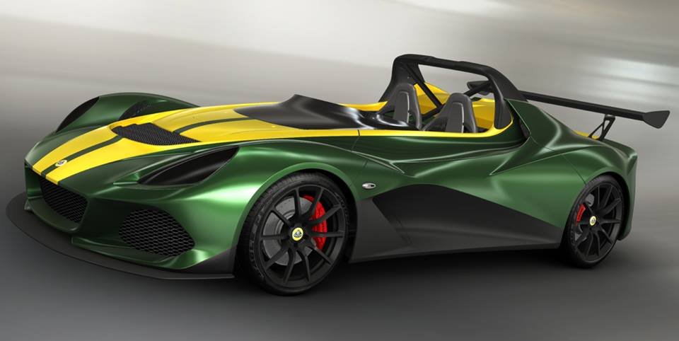 LOTUS 3-ELEVEN: MATT GREEN + STRIP METALLIC YELLOW