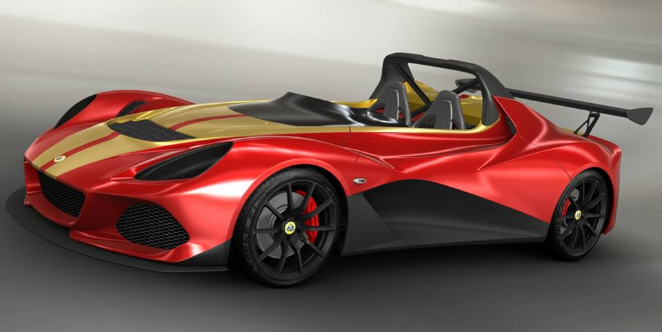 LOTUS 3-ELEVEN: METALLIC RED + STRIP METALLIC GOLD